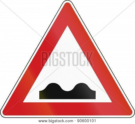 Czech Uneven Road Sign