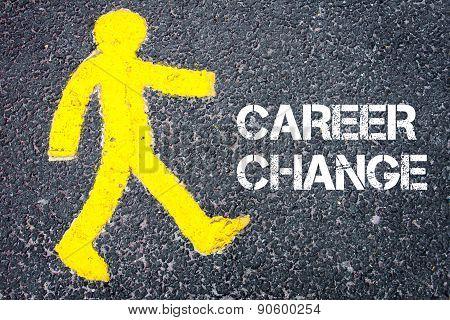 Pedestrian Figure Walking Towards Career Change