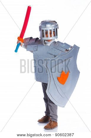 Boy dressed as a Knight