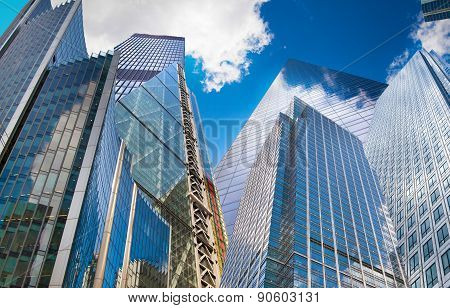 Abstract architectural composition. Business background