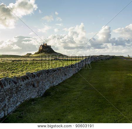 Lindisfarne Castle, Holy Island, Northumberland, England.