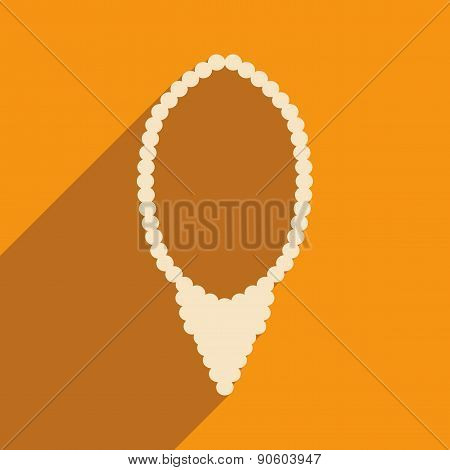 Flat with shadow icon and mobile applacation necklace