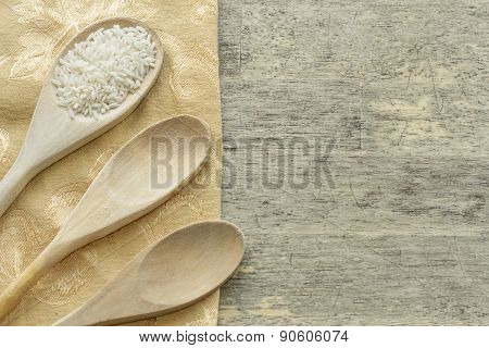 Long Grain Rice Cooking Background