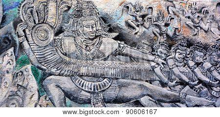 Thai god mural
