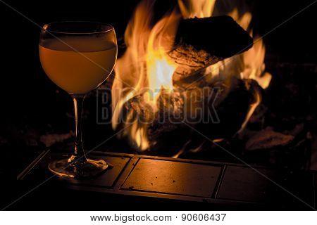 Wine Glass Fire