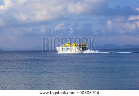 The Ferry Bocayna Express From Fred Olsen On The Ocean