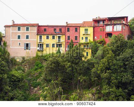 View of Portovenere, Cinque terre, Italy