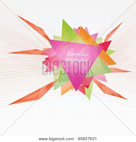 Abstract Background with Triangles and Lines. Annual Report Concept. Vector Illustration