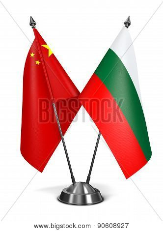China and Bulgaria - Miniature Flags.