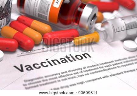 Vaccination - Medical Concept. 3D Render.