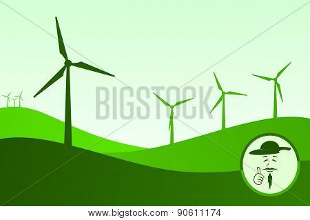 Don Quixote and the windmills