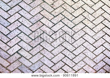 Modern stone street road pavement texture, Brick pavement with perspective view