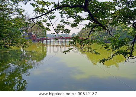 Lake Hoan Kiem In Spring, Hanoi, Vietnam