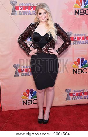 LOS ANGELES - MAR 29:  Meghan Trainor arrives to the 2015 iHeartRadio Music Awards  on March 29, 2015 in Hollywood, CA