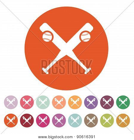 Baseball Icon. Sport Symbol. Flat
