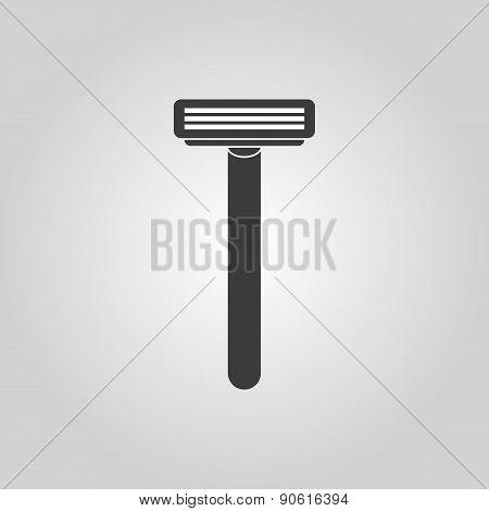 The Shaving Razor Icon. Shaver Symbol. Flat