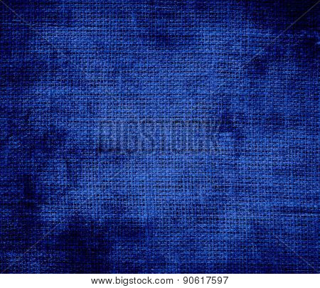 Grunge background of Air Force blue (USAF) burlap texture