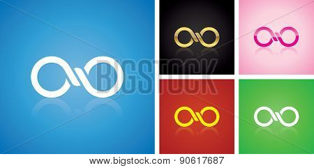 Vector infinitely logo design