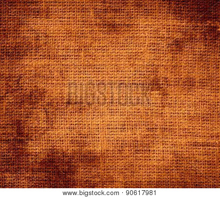 Grunge background of alloy orange burlap texture