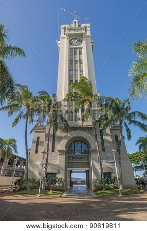 Aloha Tower in Honolulu Hawaii.