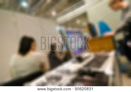 Generic trade show blur background