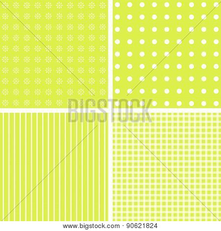Vector Set Of 4 Background Patterns.