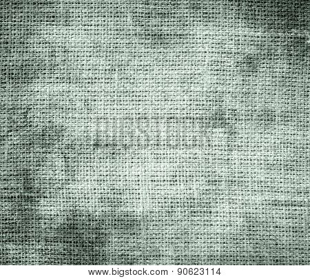Grunge background of ash grey burlap texture