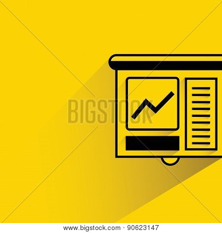 financial data in projector screen