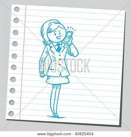 Businesswoman having cell phone communication