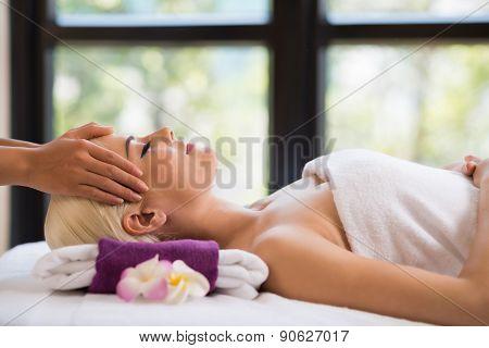 Professional head massage