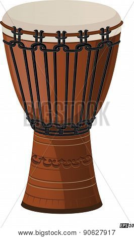 Djembe drum isolated - Illustration