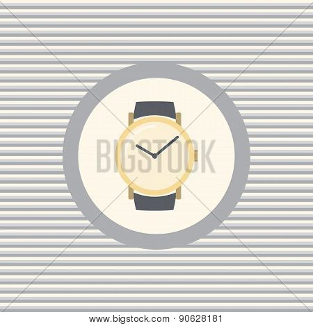 Wrist Watch Color Flat Icon
