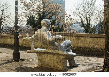 Public statue in Zagreb, Croatia