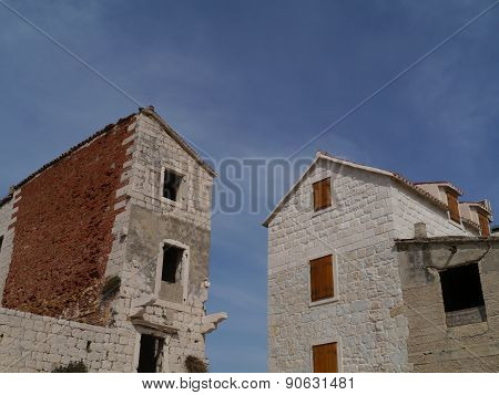 Houses at the Kastela Riviera in Croatia