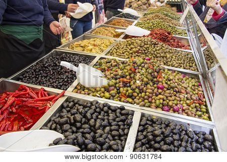 Various Marinated Olives