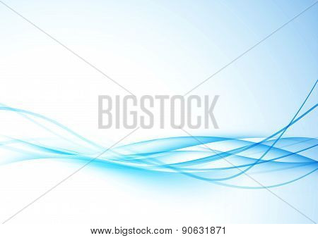 Smooth Futuristic Blue Wave Folder Template
