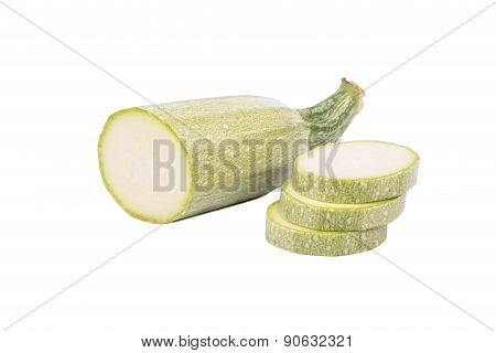 Half Of Vegetable Marrow With Slices