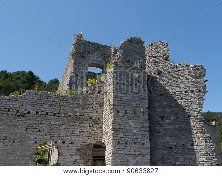 A ruin in Polace on Mljet in Croatia
