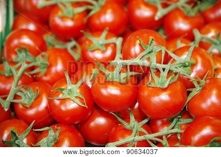 Fresh Red Tomatoes As A Background