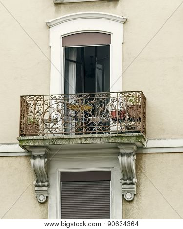 Openwork Balconies On The Facade Of The House