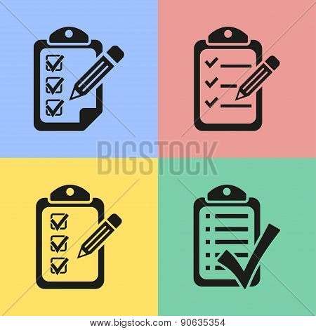 Clipboard icons.