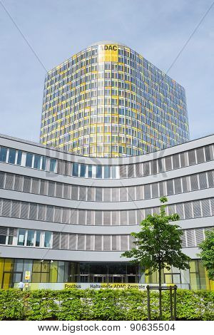 Vertical Shot Of Adac Emergency Rescue Association Headquarters Tower