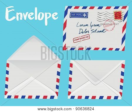 Set Of White Envelope
