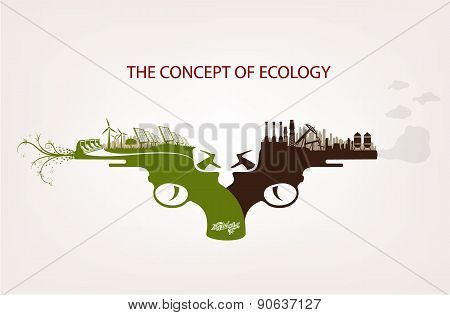 Conceptual illustration of pollution