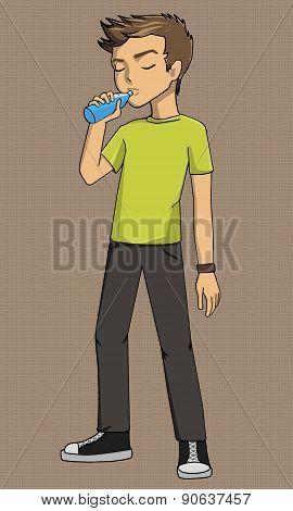 Boy Drinking Illustration Eps, Example, Exercise, Explanation