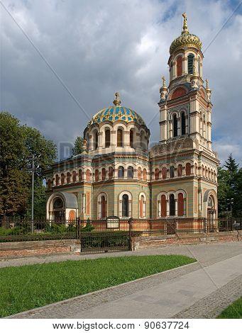 Basilica Orthodox Alexander Nevsky in Lodz.