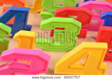 Colorful Plastic Numbers