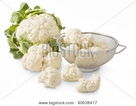 Isolated Cauliflower With Parts