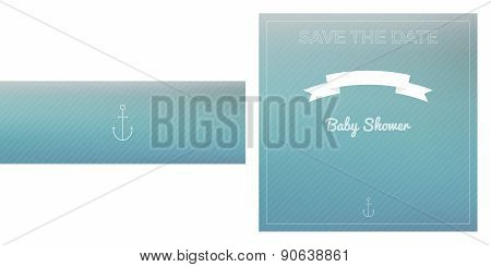 Save The Date Baby Shower Card