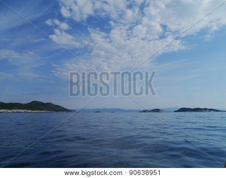 Croatian islands in the Mediterranean